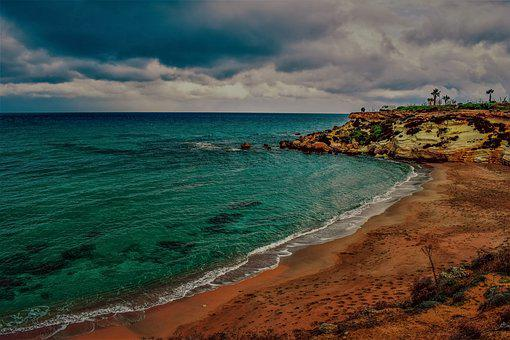 Cyprus, Kapparis, Fireman's Bay, Cove, Beach, Empty