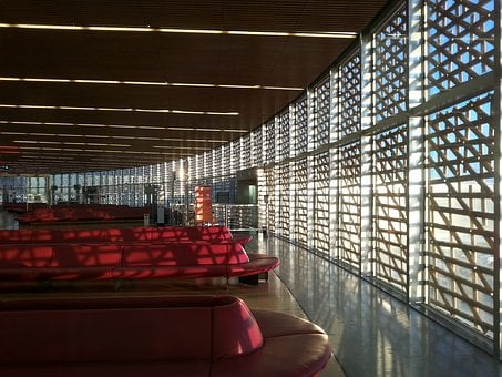 Airport, Terminal, Departure, Deserted, Lounge