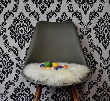 Easter Nest, Egg, Easter, Colorful Eggs, Chair, Modern