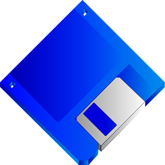 Floppy, Disk, Blue, Disc, Diskette, Blank, Unlabelled