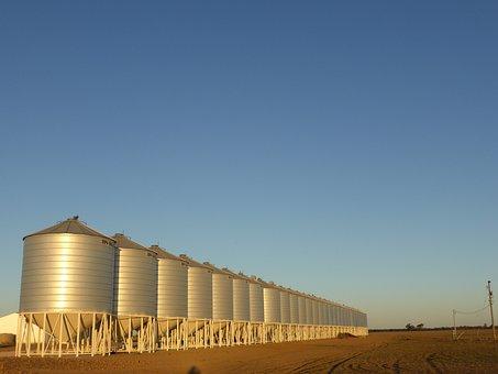 Silo, Grain, Farmer, Agriculture, Storage, Farm, Wheat