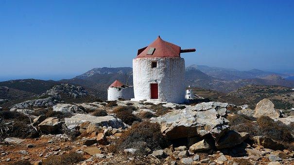 Wind Mill, Amorgos, Greek Island, Greece, Nature