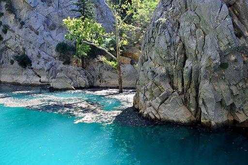 Bergsee, Rock, Landscape, Greenlake Turkey