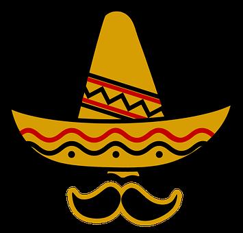 Sombrero, Hat, Mexico, Bart, Deep, Hidden, Nose