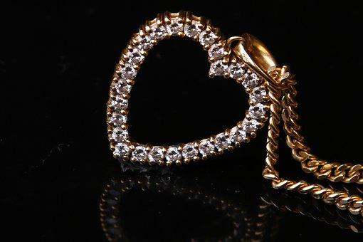 Heart, Necklace, Pendant, Jewelry, Love, Romance