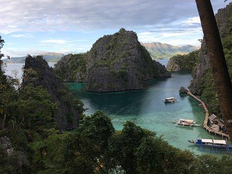Philippines, Palawan, Lagoon, Tropics, Asia, Landscape