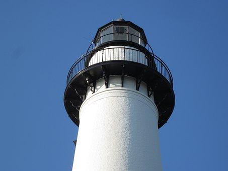 Lighthouse, St Simon Island, Light, Coast, Tower