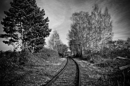 Lost Places, Gleise, Railway Tracks, Weathered, Rails