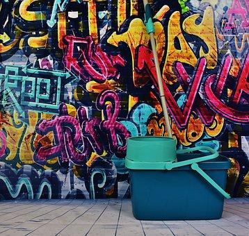 Graffiti, Putz Bucket, Remove, Make Clean, Clean