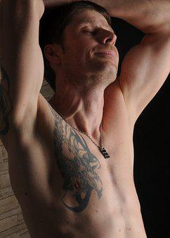Man, Muscles, Tattoo, Tattooed Man, Male, Pose, Naked