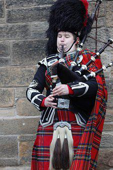 Scotland, Jock, Kilt, Bagpipes, Musical Instrument