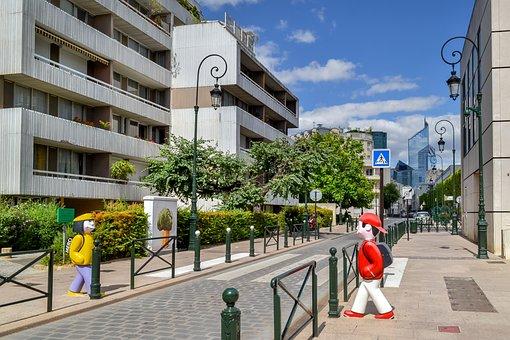 Puteaux, Suburb, Paris, France, Street, Travel, City