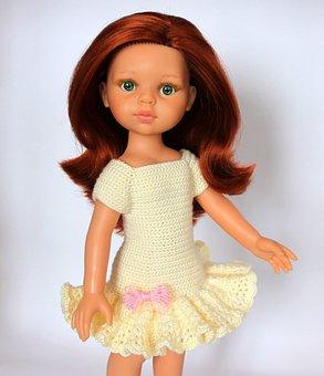 Baby Doll, Redhead Doll, Knitting, Doll Paola Reina