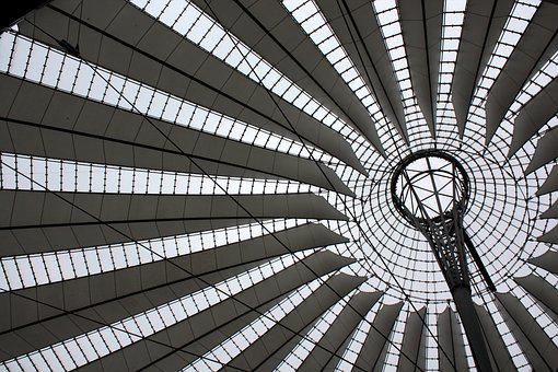 Berlin, Sony Center, Architecture, Roof