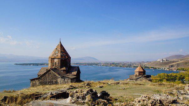 Lake Sevan, Monastery, Church, Armenia, Sevan, Medieval