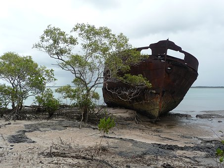 Relic, Ship, Wreckage, Shipwreck, Old, Travel, Rusty