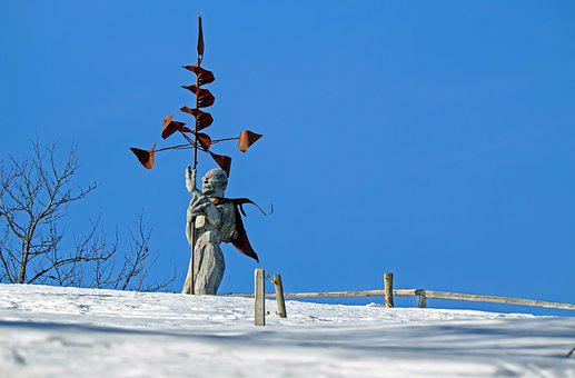 Sculpture, Wind Drill, Wood, Silver Fir, Tribe, Fig