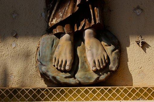 Feet, Statue, Sculpture, Foot, Monument, Religion