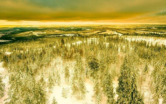 Sweden, Sunset, Sunrise, Sky, Clouds, Beautiful