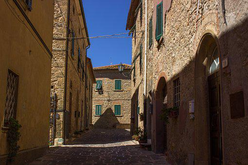 Tuscany, Casale Marittima, Italy, Village Centre