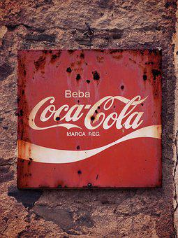Poster, Advertising, Vintage, Plate, Coca Cola, Sign