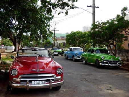 Cars, Old, Cuba, Havana, Vintage, Transportation, Retro