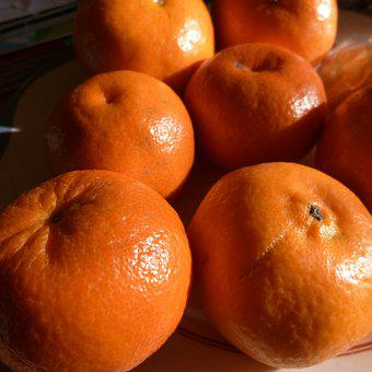 Clementines, Orange, Mandarins, Vitamins, Fruit