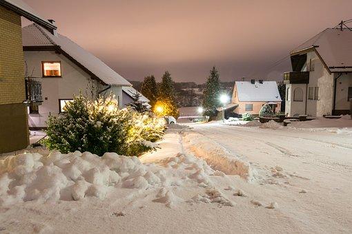 Winter, Street, Snow, Landscape, White, Wintry, Snowy