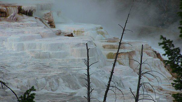 Yellowstone, Mineral Cliffs, Nature, Park, Geothermal