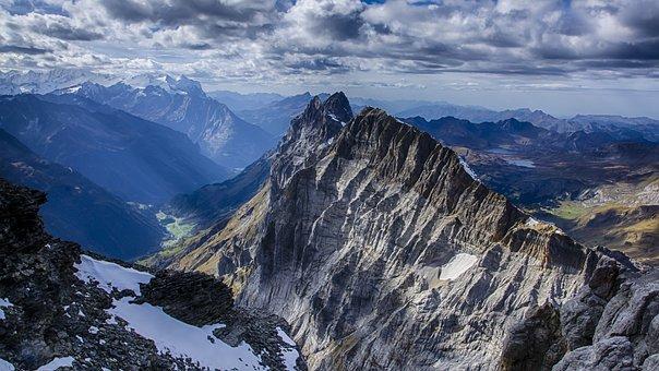 Alpine, Snow, Switzerland, Clouds, Outlook, Landscape