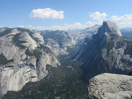 Yosemite, Landscape, Mountain, National, Park, America