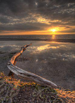 Hdr Sunset, Bristol Channel Sunset, Bristol, Artistic