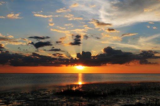 Gulfofmexico, Sunset, Beach, Colorful, Sky