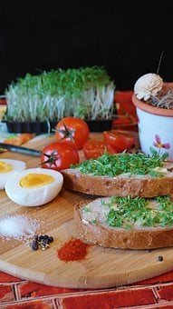 Cress, Cress Bread, Bread, Bread And Butter, Eat, Bio