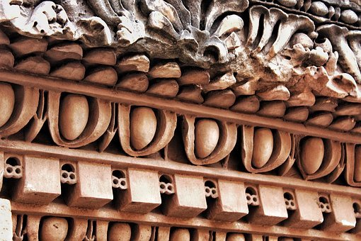 Rome, Capitello, Marble, Ancient, Column, Texture
