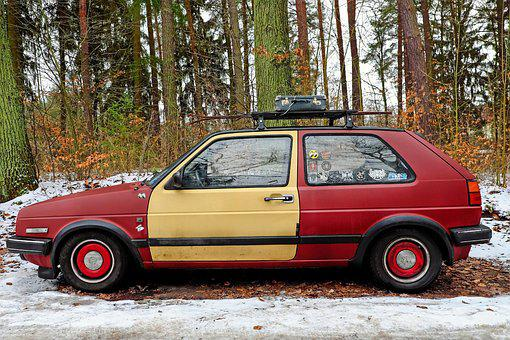 Auto, Volkswagen, Vw-gtd, Vehicle, Old, Classic, Winter