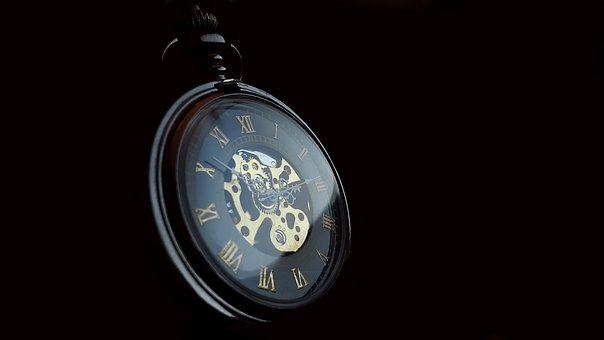 Pocket Watch, Clock, Time, Old, Nostalgia, Pointer