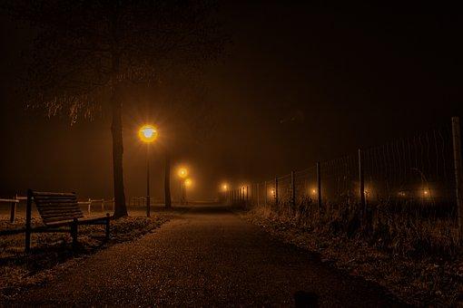 Night, Evening, Clouds, Dusk, Mood, Abendstimmung