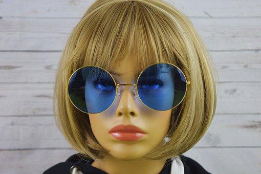 Woman, Pretty, Glasses, Funny, Face, Doll