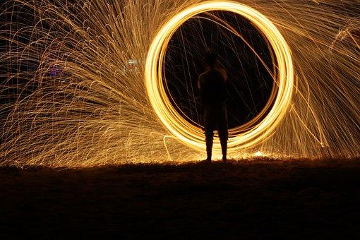 Firework, Dark, Light, Fire, Flame, Night, New, Year