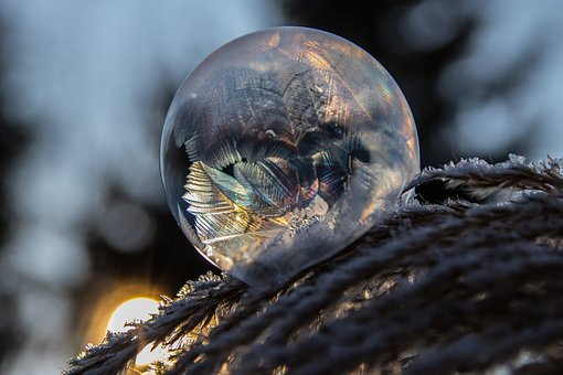 Frozen Bubble, Ice Crystal, Frost, Ice, Frozen, Cold