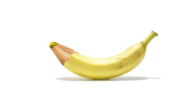 Banana, Pen, Leave, Healthy, Vitamins, Delicious, Fruit