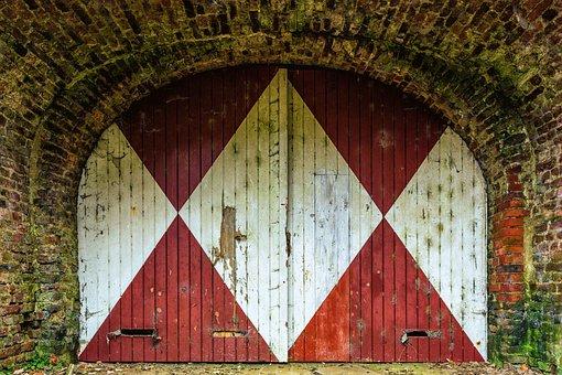 Goal, Door, Gate, Input, Wood, House Entrance, Old