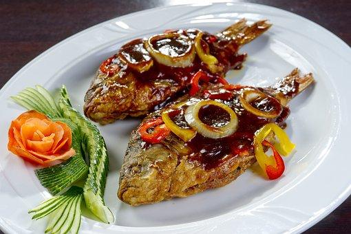 Korean Food, Fried Crucian Carp, National Cuisine