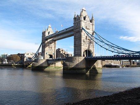 Tower Bridge, London, River Thames, Bridge, England