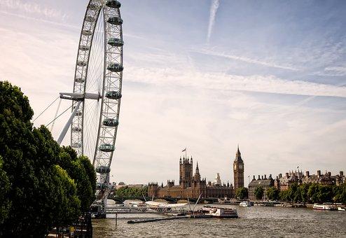 London, Big Ben, London Eye, United Kingdom, England