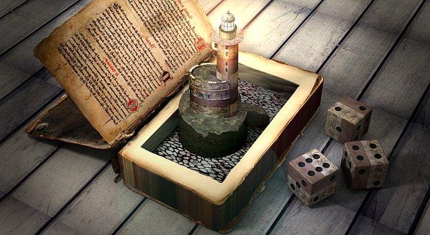 Secrets, Book Contents, Lighthouse, Play, Luck, Book
