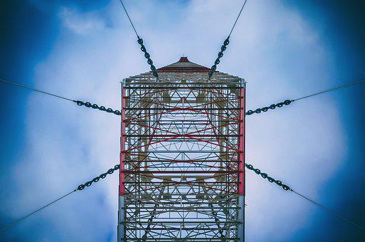 Tower, Radio, Tax, High, Sky, Clouds, Blue, Colors