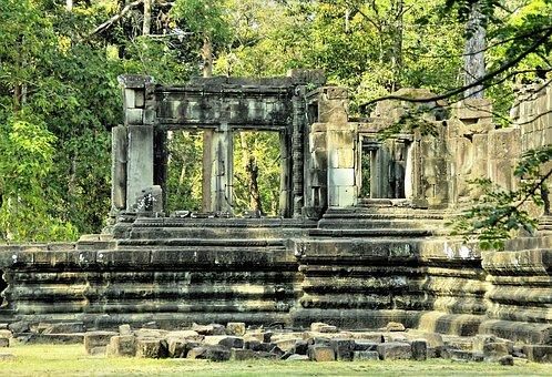 Cambodia, Angkor, Temple, Bantaey Srei, Khmer, Ruins