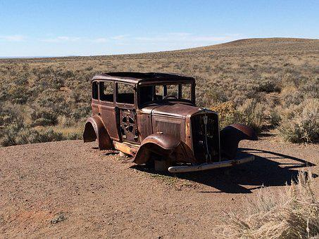Jalopy, Rust, Abandoned, Old, Vintage, Antique, Metal
